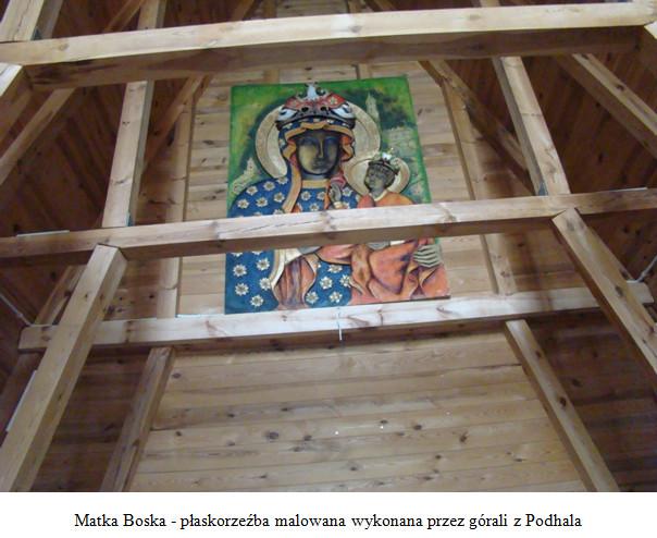 Matka Boska - płaskorzeźba malowana wykonana przez górali z Podhala